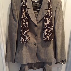 Ladies suit with scarf